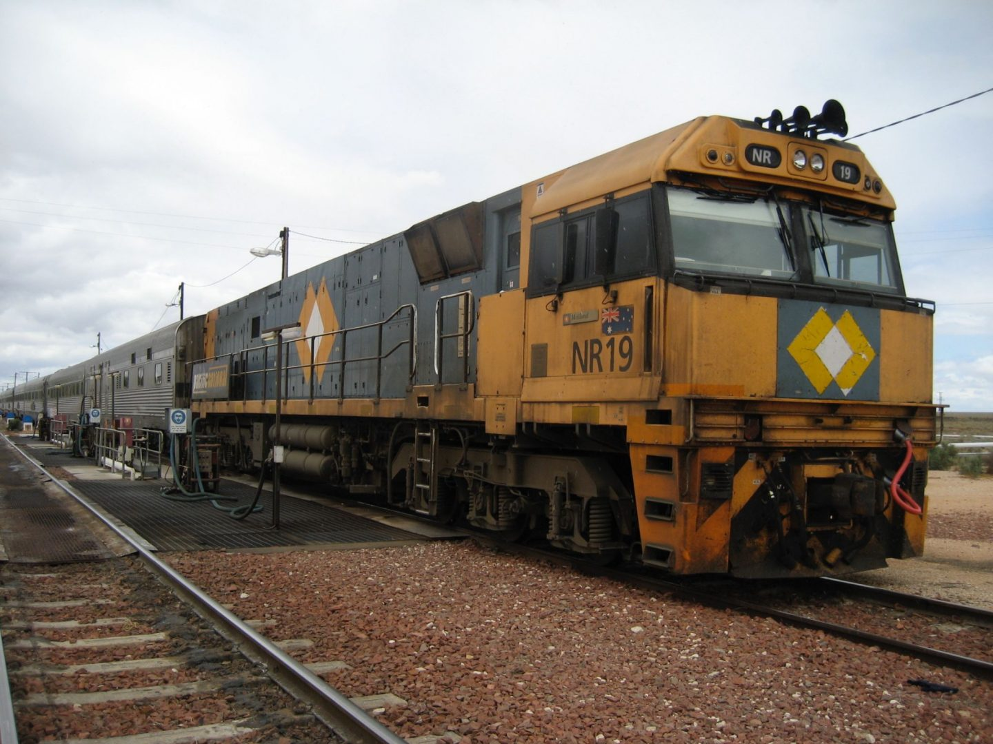 Front of the Indian Pacific train
