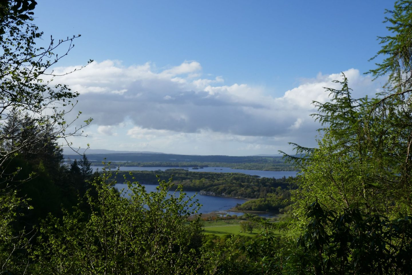 View over lake on way to Torc Waterfall