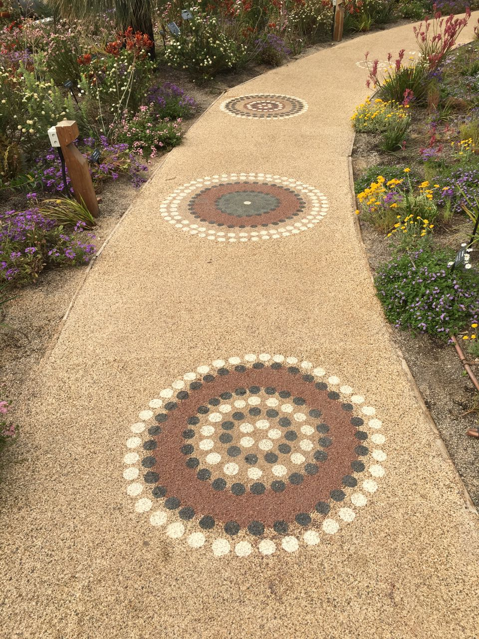 Aboriginal artwork in the Western Australia Garden
