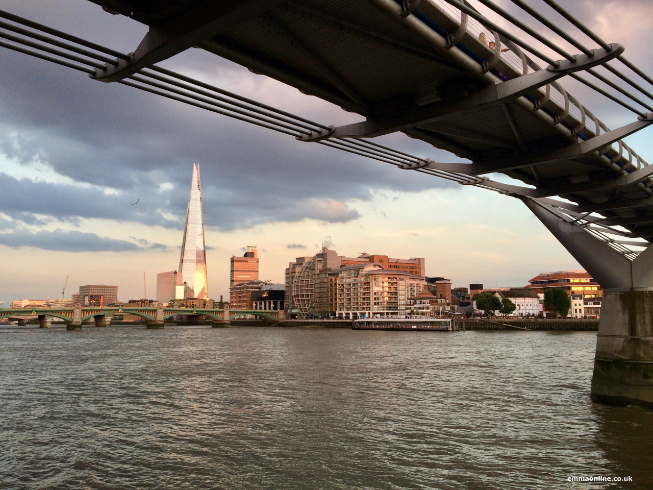View of the Shard from the north side of the River Thames