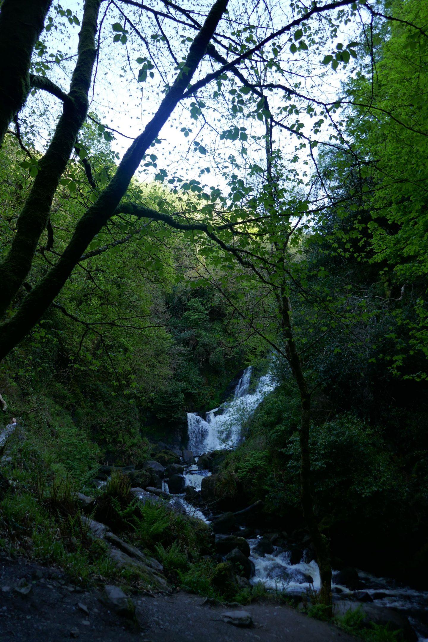 Looking back at Torc Waterfall