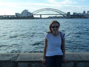 Emma overlooking Sydney Harbour