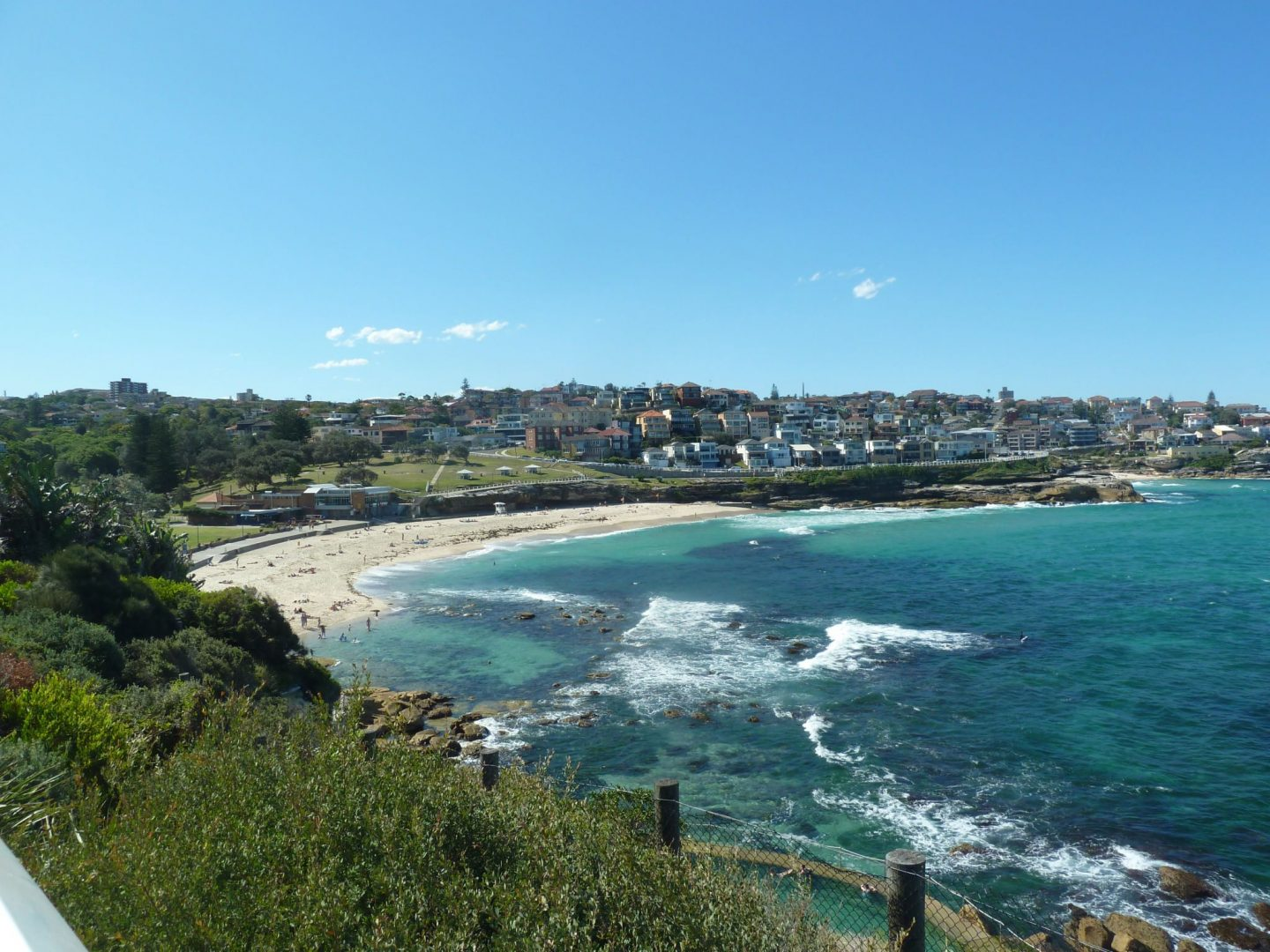 View from the headland looking back over Bronte Beach