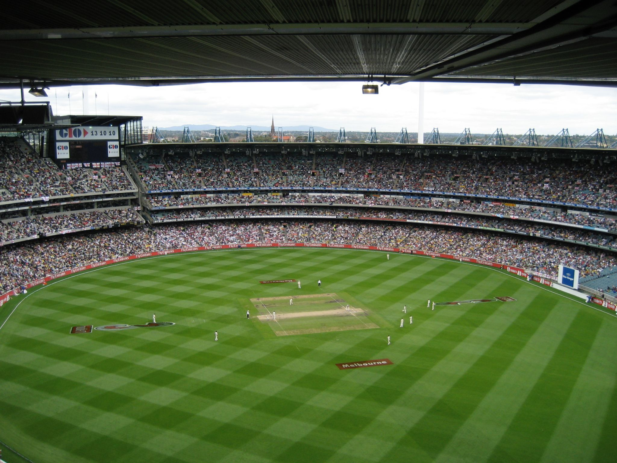 View of the Melbourne Cricket Ground from the very back row of the fifth tier