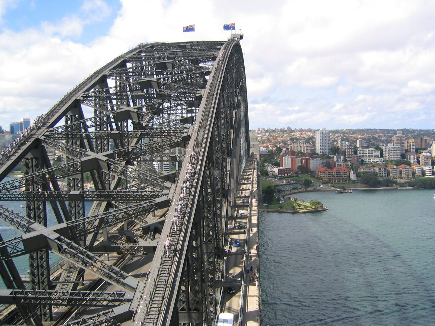 View of the Sydney Harbour Bridge from the Pylon Lookout