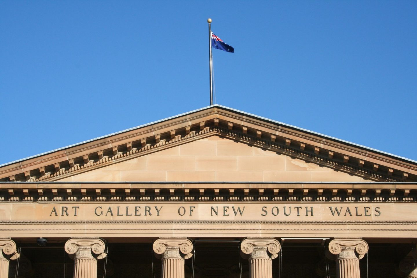 Top of the The Art Gallery of New South Wales building
