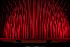 Theatre curtain to illustrate best london musicals