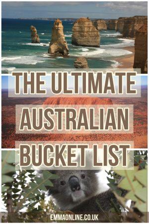 Three Australian icons, a Koala Bear, Uluru and the 12 Apostles.