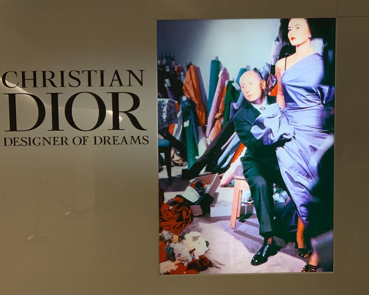 Dior Designer of Dreams sign