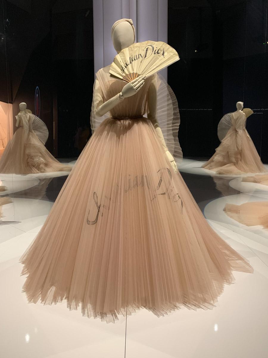 Dior peach dress