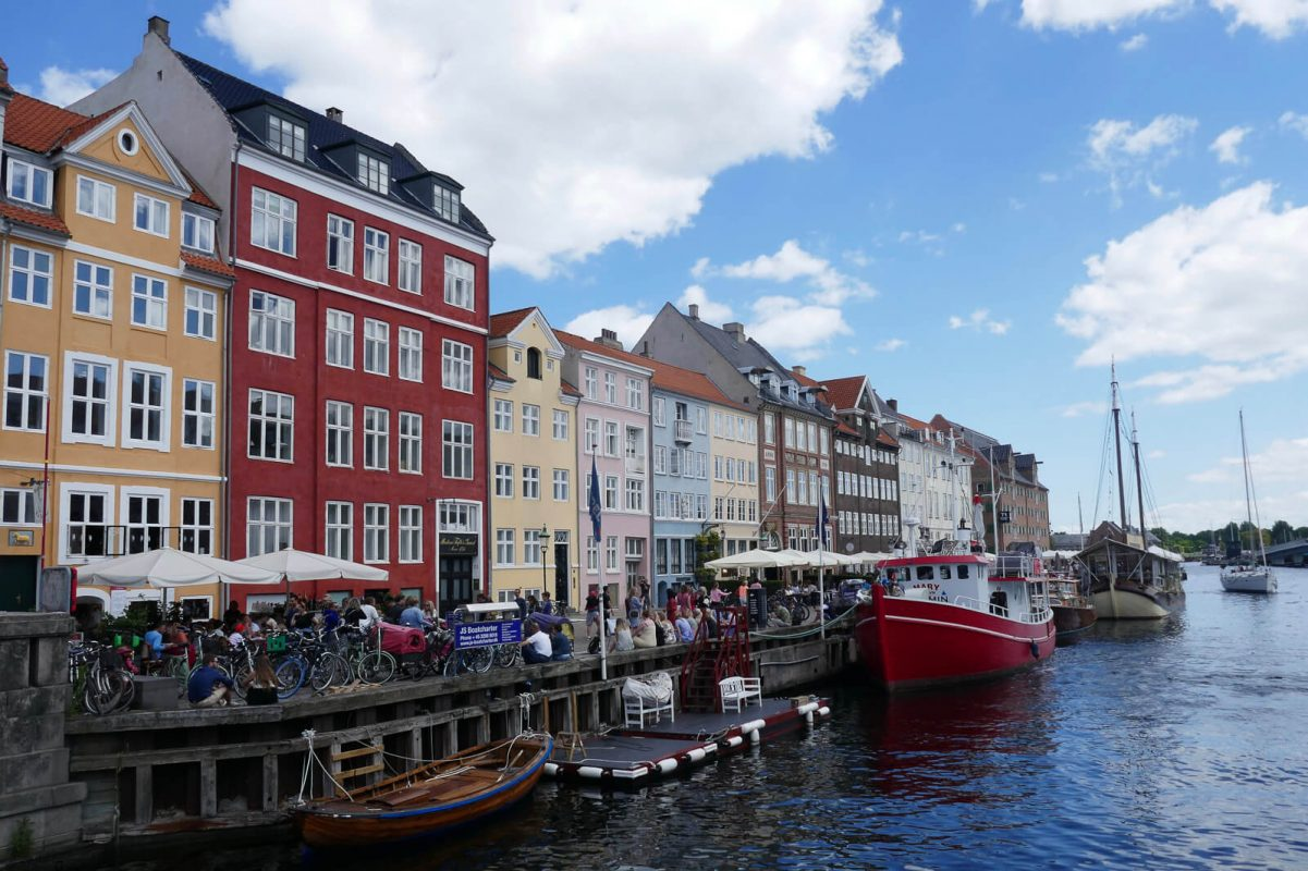 Colourful buildings along canal in Nyhavn