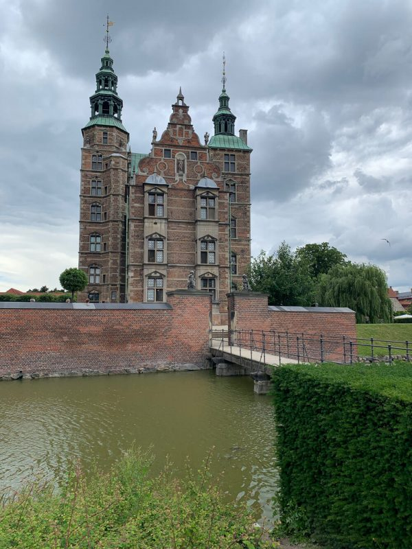View overlooking the moat to Rosenborg Castle