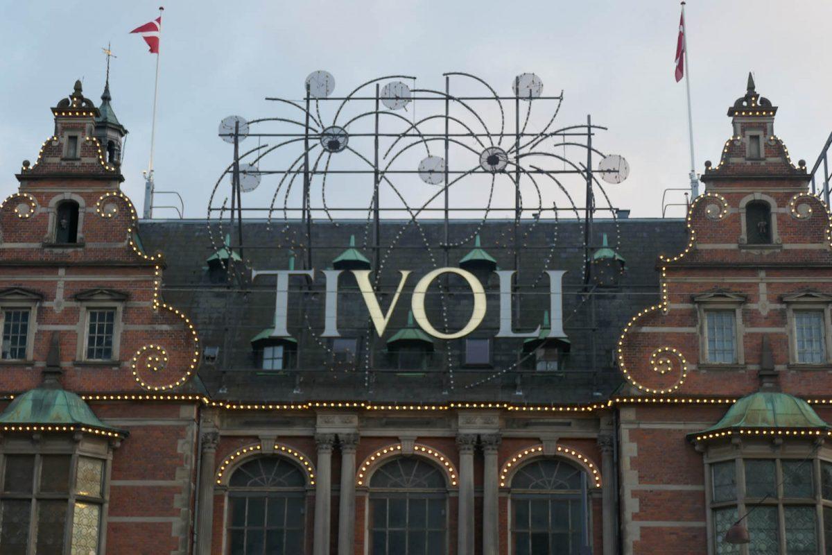 Sign on top of Tivoli Gardens entrance