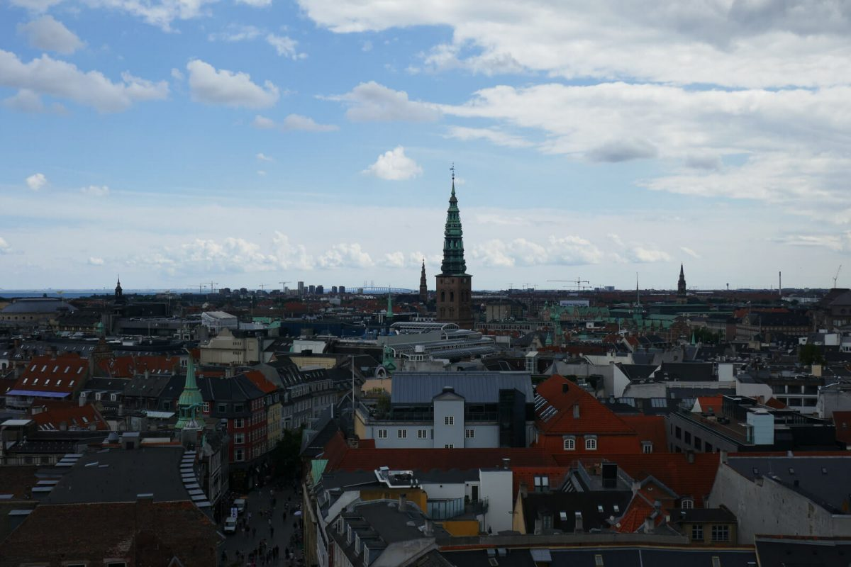 View of Copenhagen from top of the Round Tower