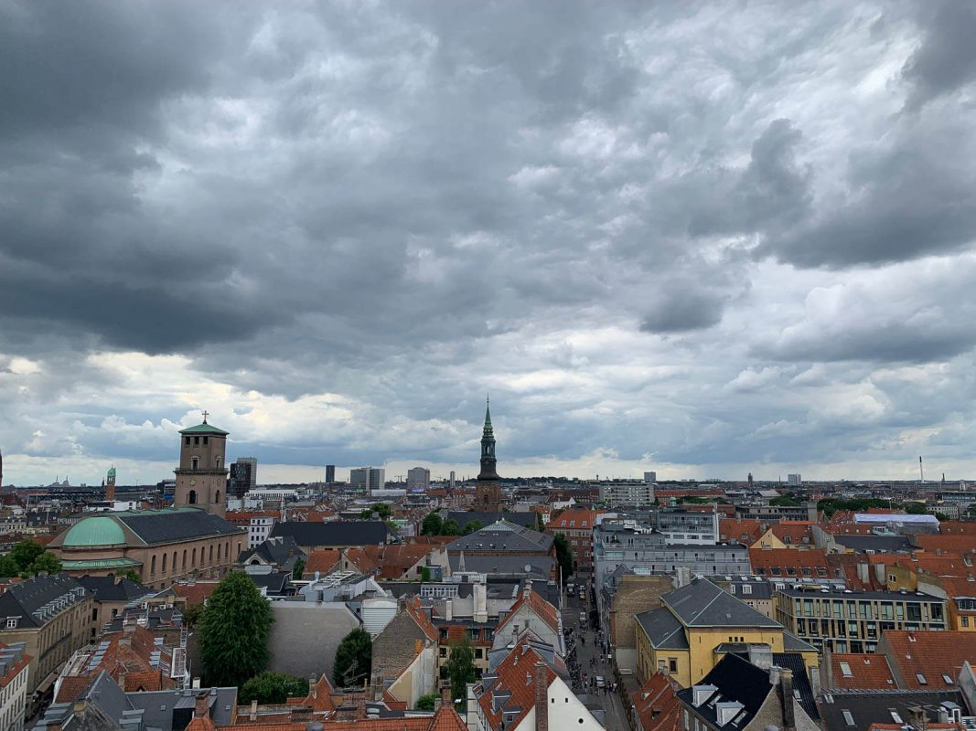 View of Copenhagen from the top of the Round Tower