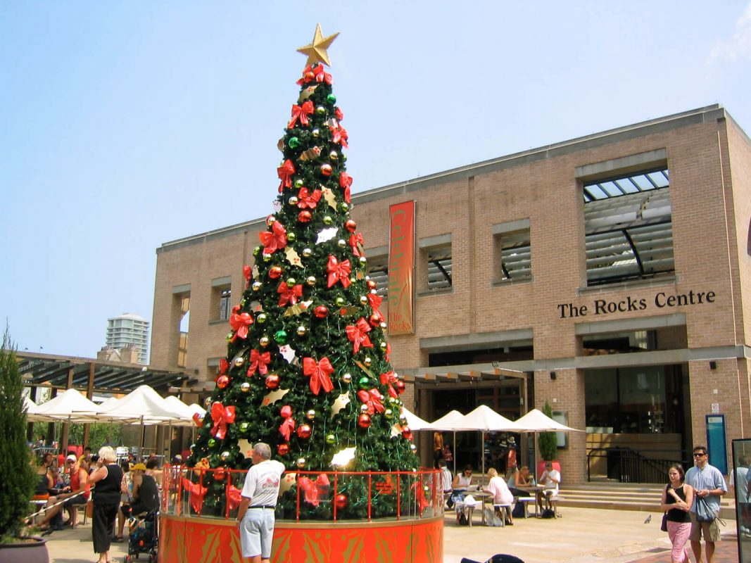Christmas tree outside The Rocks Centre, Sydney, Australia